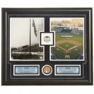 New York Yankees Yankee Stadium Opening Day 1923 and 2008 Commemorative Game Used Dirt Collage