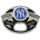 New York Yankees Silver Official Tailgater Bottle Opener Belt Buckle