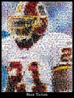 Sean Taylor Washington Redskins montage mosaic pop art print limited signed coa 1-25