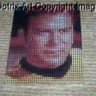 framed canvas Star Trek Capt. Kirk Dotrix signed art limited signed coa 1-25