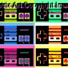 CANVAS Nintendo controller NES original pop art print limited signed coa 1-25