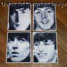 Amazing RARE 1964 set The Beatles face photo Montages limited signed coa 1-25