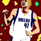 SC Dirk Nowitzki pop art print Dallas Mavericks w/COA 1-25