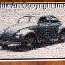 Amazing VW Bug Volkgswagen Beetle Montage UNBELIEVABLE! limited signed coa 1-25