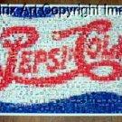 Amazing Pepsi Cola Double Dot vintage sign Montage limited signed coa 1-25