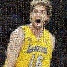 Amazing LA Lakers Pau Gasol Montage numbered w/COA 1-25