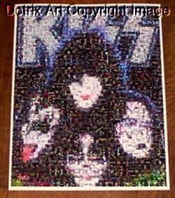CANVAS original KISS Gene Simmons pop art print RARE 1-25 signed coa