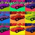 CANVAS 1967 Chevrolet Corvette poster pop art print 1-25