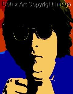 SC John Lennon Beatles pop art 1 of 25 w/signed COA