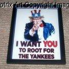 NEW framed NY Yankees Uncle Sam WPA poster