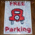 Amazing Monopoly FREE PARKING sign poster Montage limited signed coa 1-25
