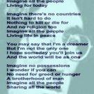 Amazing Keychain viewer ENTIRE John Lennon IMAGINE lyrics