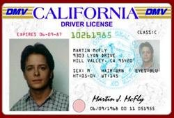 Amazng Back To The Future Marty License Keychain viewer