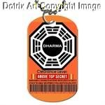 ABC LOST tv show Dharma Security badge METAL dog tag