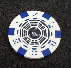 TV Show LOST Hanso Dharma Las Vegas Casino Poker Chip