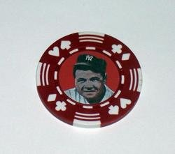Babe Ruth Las Vegas Casino Poker Chip limited edition