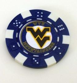 WVU West Virginia Mountaineers Vegas Casino Poker Chip