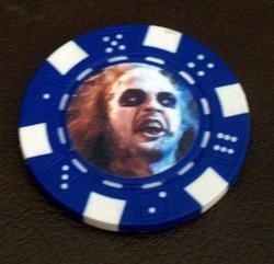 BeetleJuice Las Vegas Casino Poker Chip limited edition