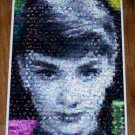 Amazing Audrey Hepburn Beautiful Flowers Montage w/COA