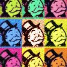CANVAS Rich Uncle Pennybags MONOPOLY pop art print