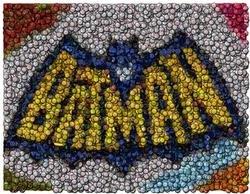 Amazing Batman Bat Signal Bottlecap mosaic print