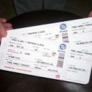 ABC TV show LOST prop Kate Airline Flight 815 2 Tickets