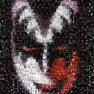 Amazng Gene Simmons KISS Rock n Roll art signed montage