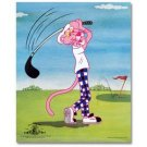 Limited Edition PINK PANTHER Golf Sericel 13X16 COA!