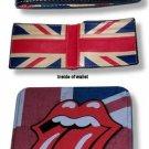 The Rolling Stones UK Flag Leather Union Jack wallet