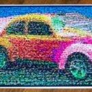 Amazing colorful Super Beetle VW Bug Montage w/COA