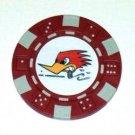 Clay Smith Cams Woodpecker Las Vegas Casino Poker Chip
