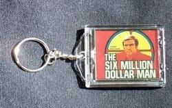 The 6 Six Million Dollar Man Blinking KeyChain COOL