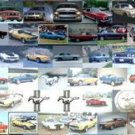 AMAZING Ford Mustang 1964-2007 Montage art logo #ered
