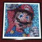 COOL Framed Nintendo Mario Bottlecap super mosaic print