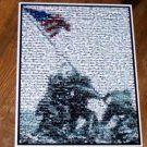Amazing World War II WWII Iwo Jima Montage art print