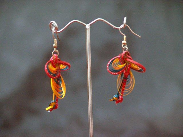 Colourful Handmade Hoop Gypsy Boho Hippie Earrings