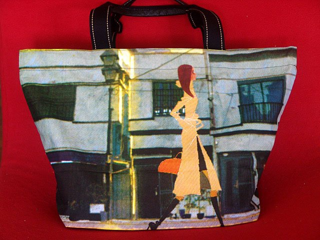 *Shopping Lady* Art Gym/shoulder/beach shopping tote bag