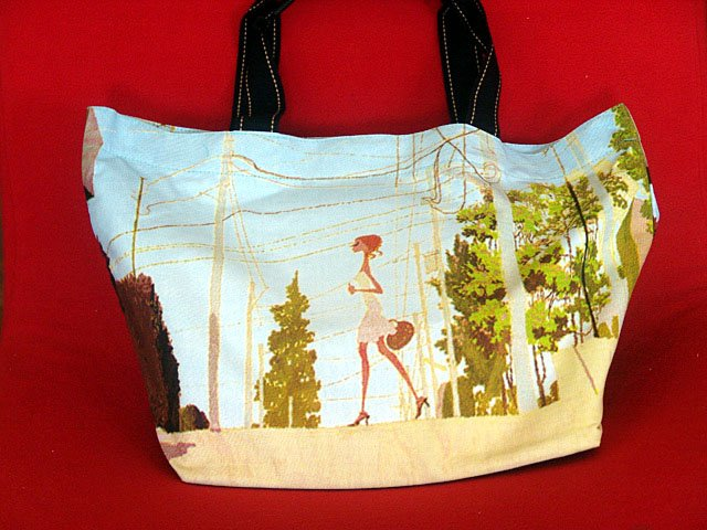 *Sexy Lady Strolling* Art Gym/shoulder/beach shopping tote bag