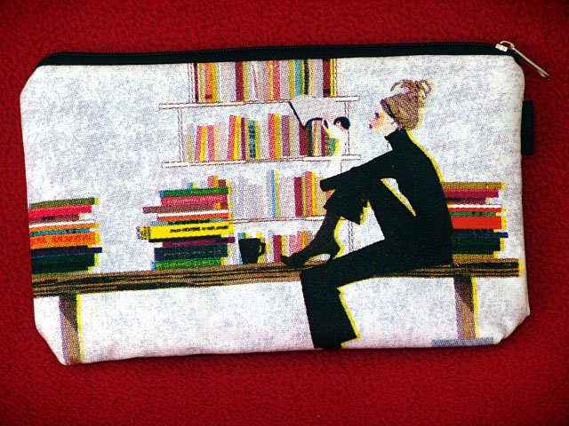 *Thinking lady* Cosmestic/Mobile/Makeup/Ipod Pouch