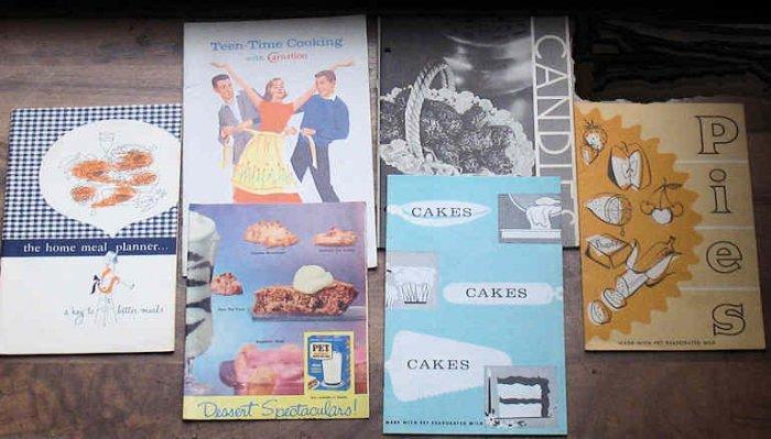 Vintage Cooking Booklets Pet Milk Carnation Gen Foods