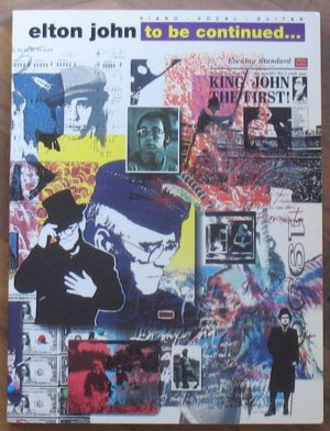 Elton John To Be Continued Song Book Softcover 1991