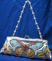 Ladies Evening Hand bag - Bead & Sequin Butterfly Handbag