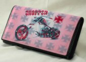 Ladies Wallet with Motorcycle Design