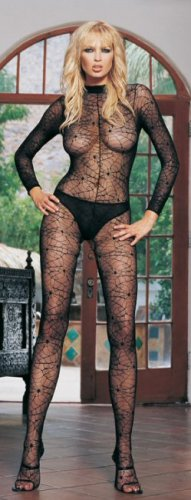 Spiderweb Lace Turtleneck Bodystocking