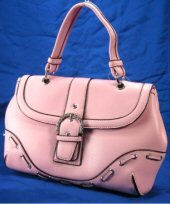 Laced Design Handbags with Rhinestone Buckle - Pink