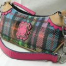 Small Handbags with Trendy Plaid Design & Partial Chain Strap