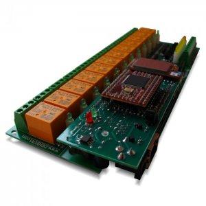 Wi-Fi 12 relay module - Web, TCP/IP, Telnet, HTTP API, E-mails, 12V