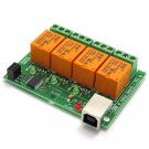 USB Four(4) Relay Output Module,Board for Home Automation -  ver.1 - JQC-3FC/T73 DC5V