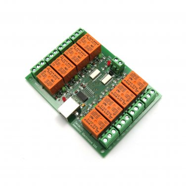 USB Eight Channel Relay Board for Automation, 24V