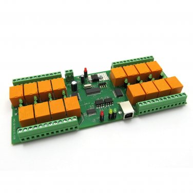 USB 16 Channel Relay Board - Virtual COM (Serial) Port - 12V